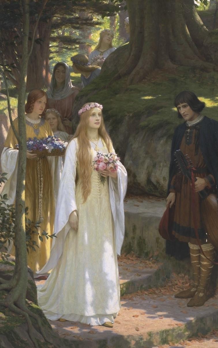 File Edmund Blair Leighton My Fair Lady Jpg Wikimedia