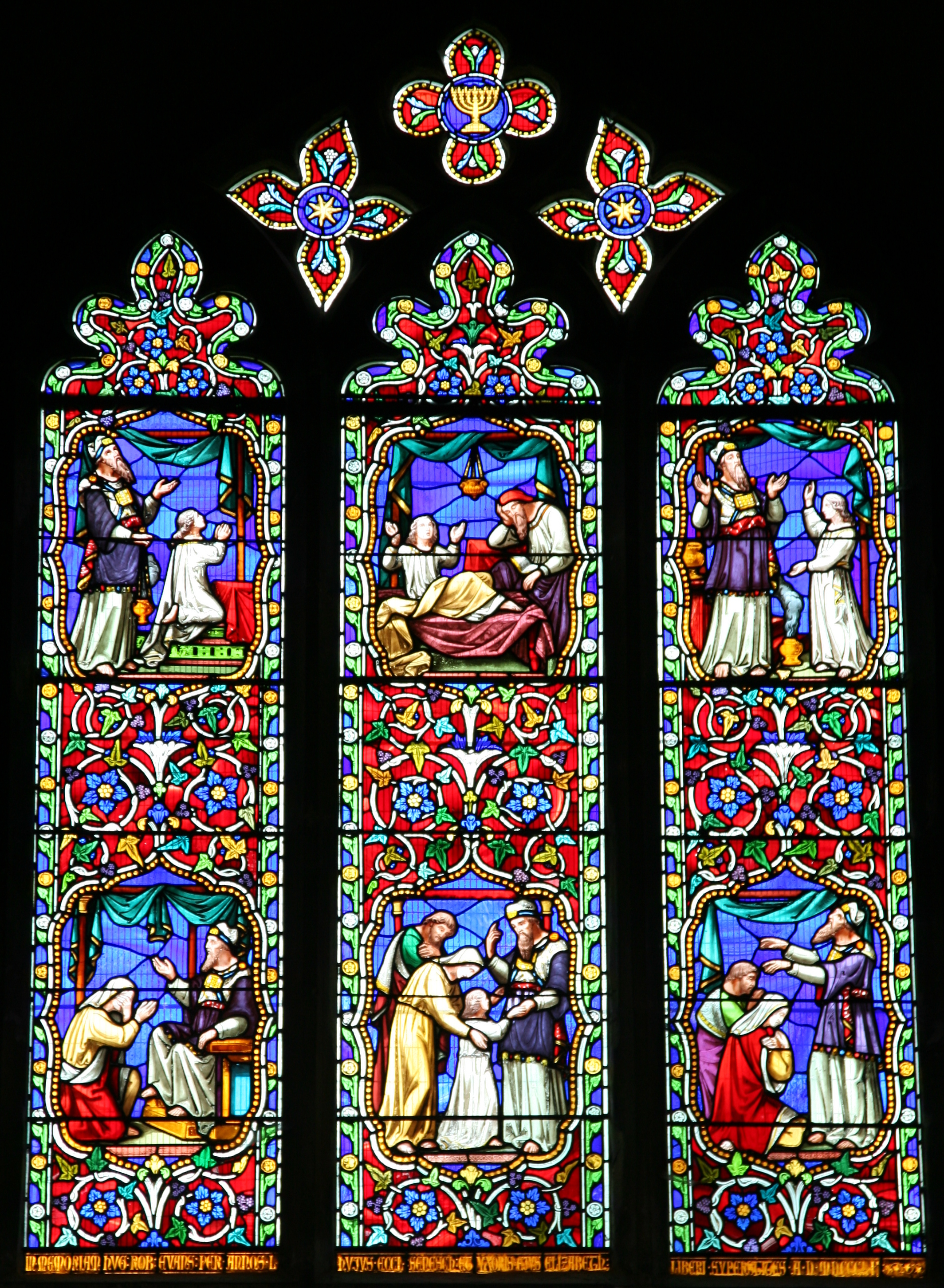 Cathedral windows for Stained glass window church