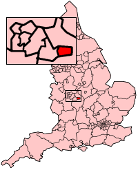 Coventry shown within England