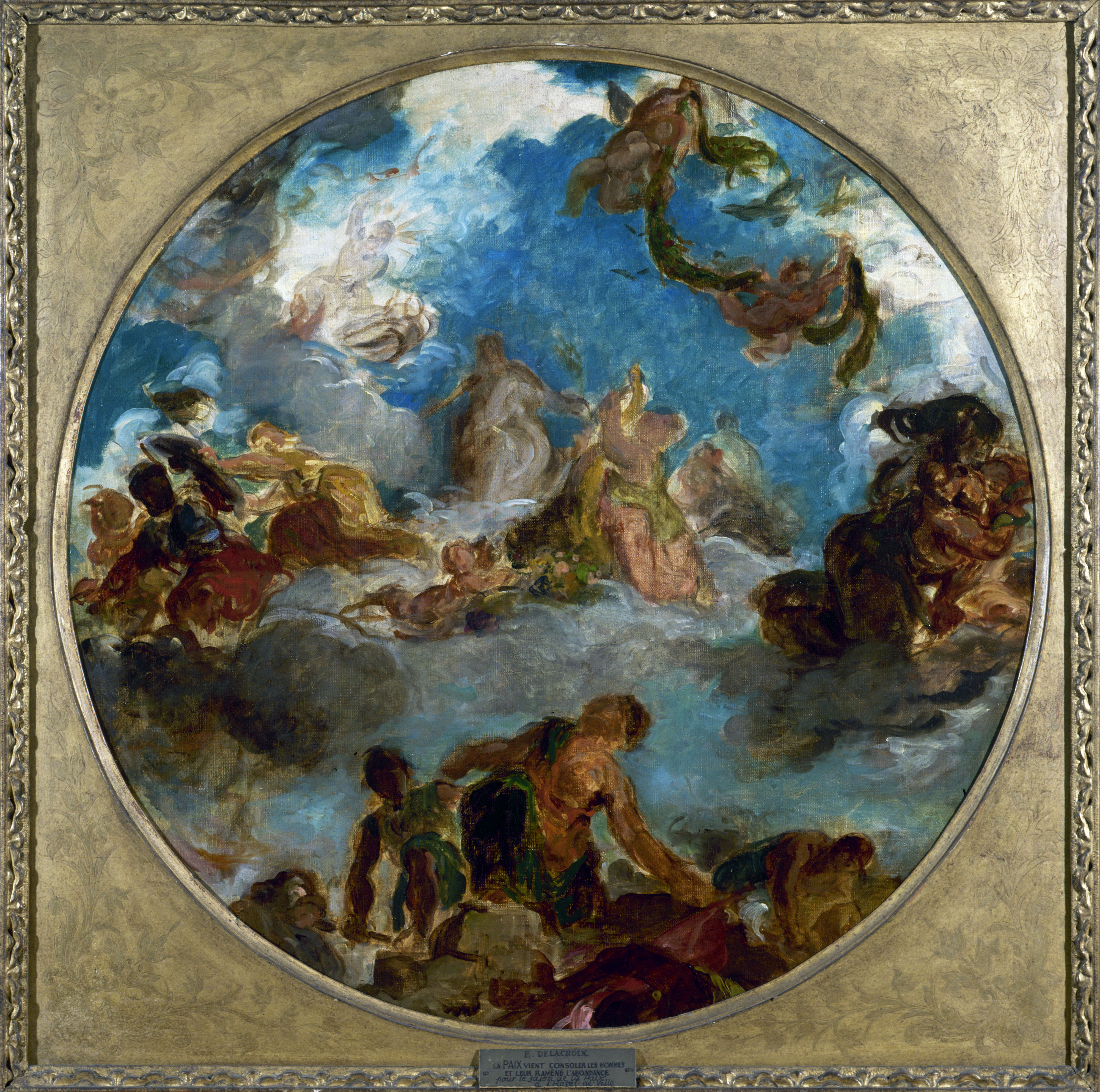 Eugène Delacroix - Sketch for Peace Descends t...