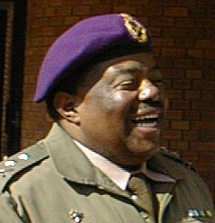 Fumanekile Gqiba, former Chaplain General of the S. African National Defense Force, and former South African Ambassador to Israel, 1998