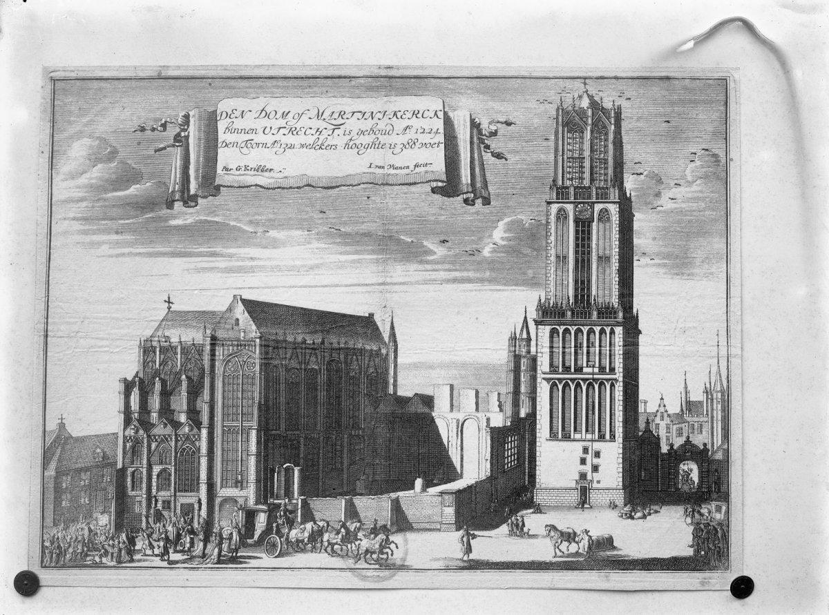 Gezicht op het koor vanuit het noorden, gravure 1697 door I. van Vianen, Gemeente archief Utrecht nummer 1319 - Utrecht - 20232132 - RCE.jpg