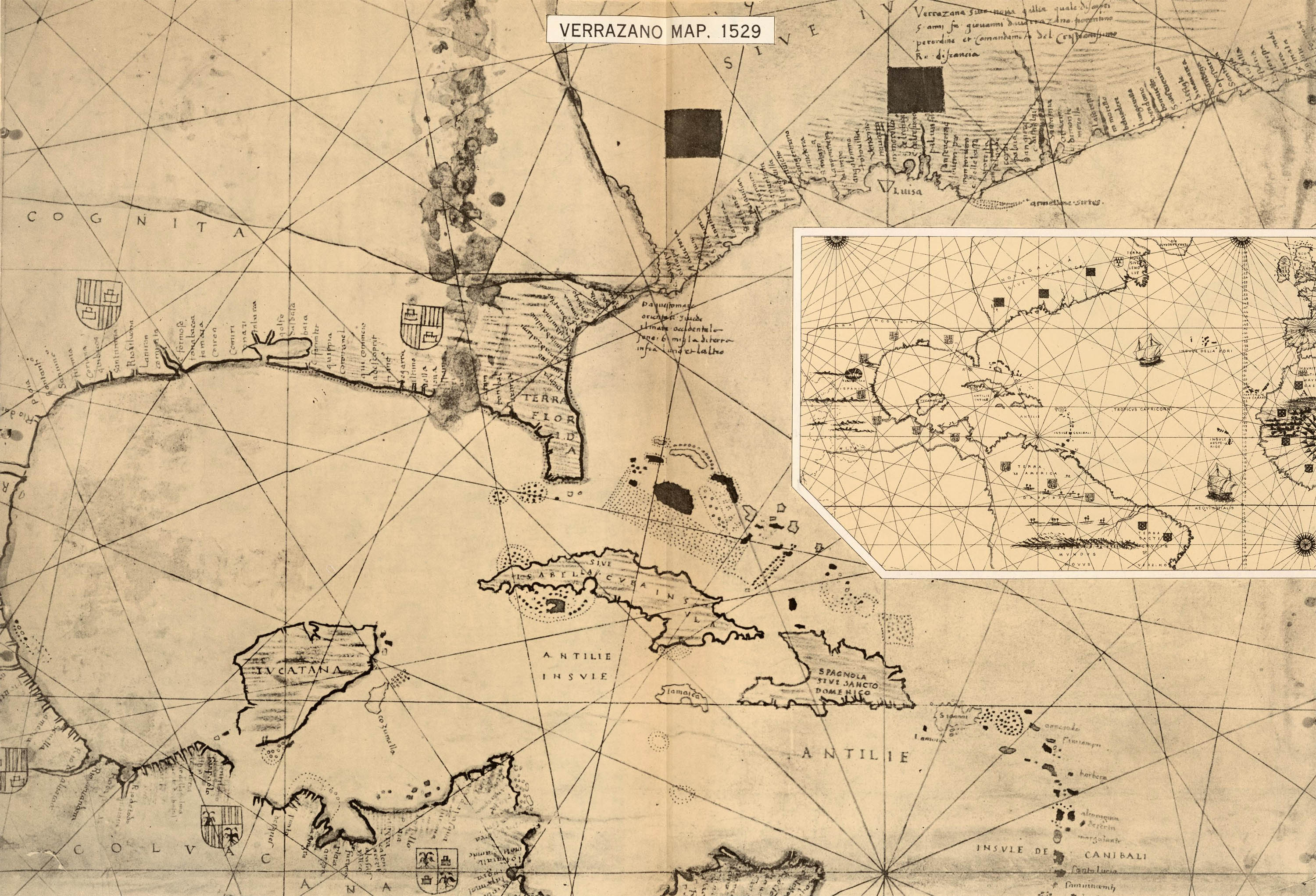 File:Girolamo de Verrazzano's 1529 map of the East Coast of America.jpg