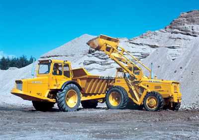 mining equipment in use