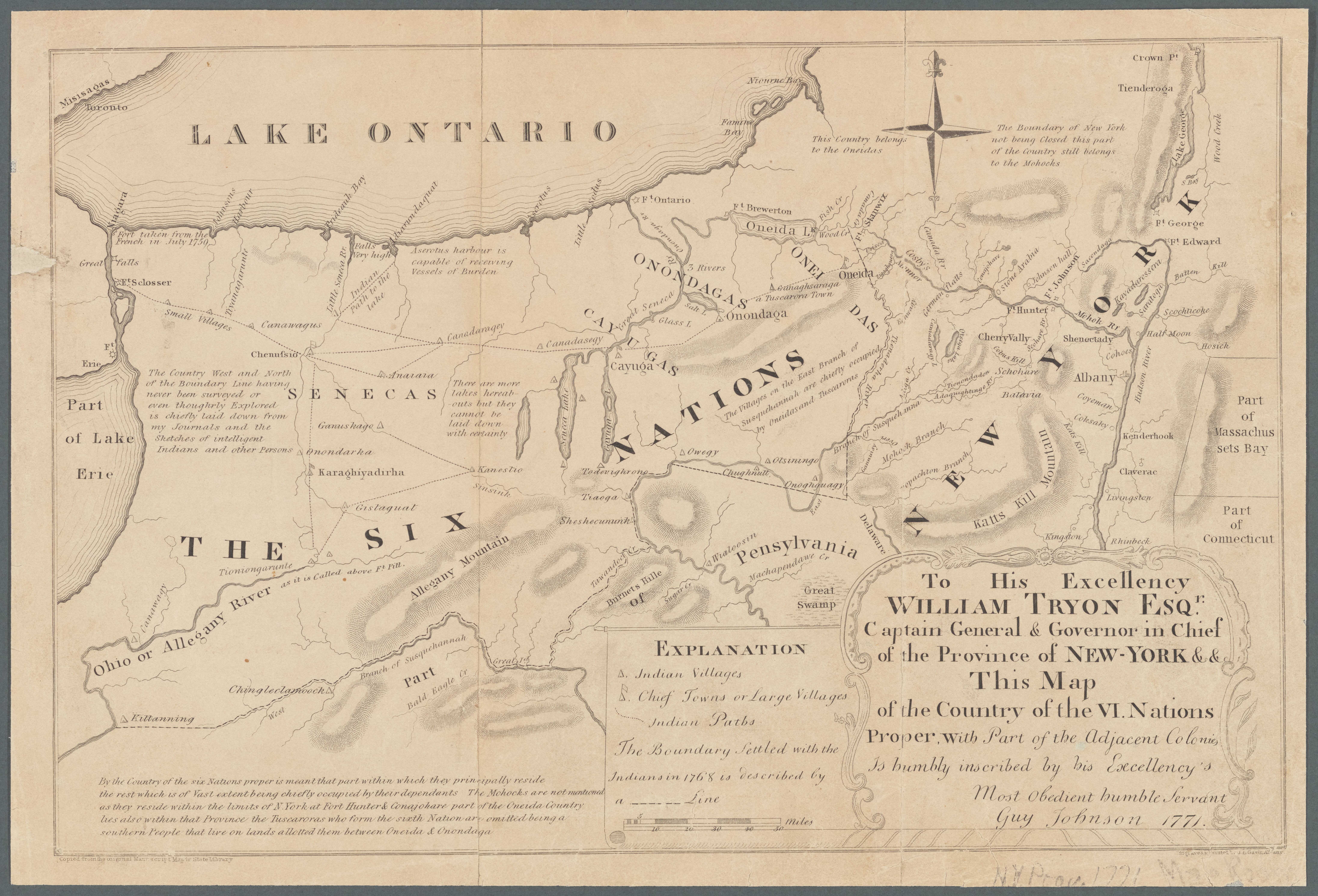 fileguy johnson map of the country of the vi nations 1771