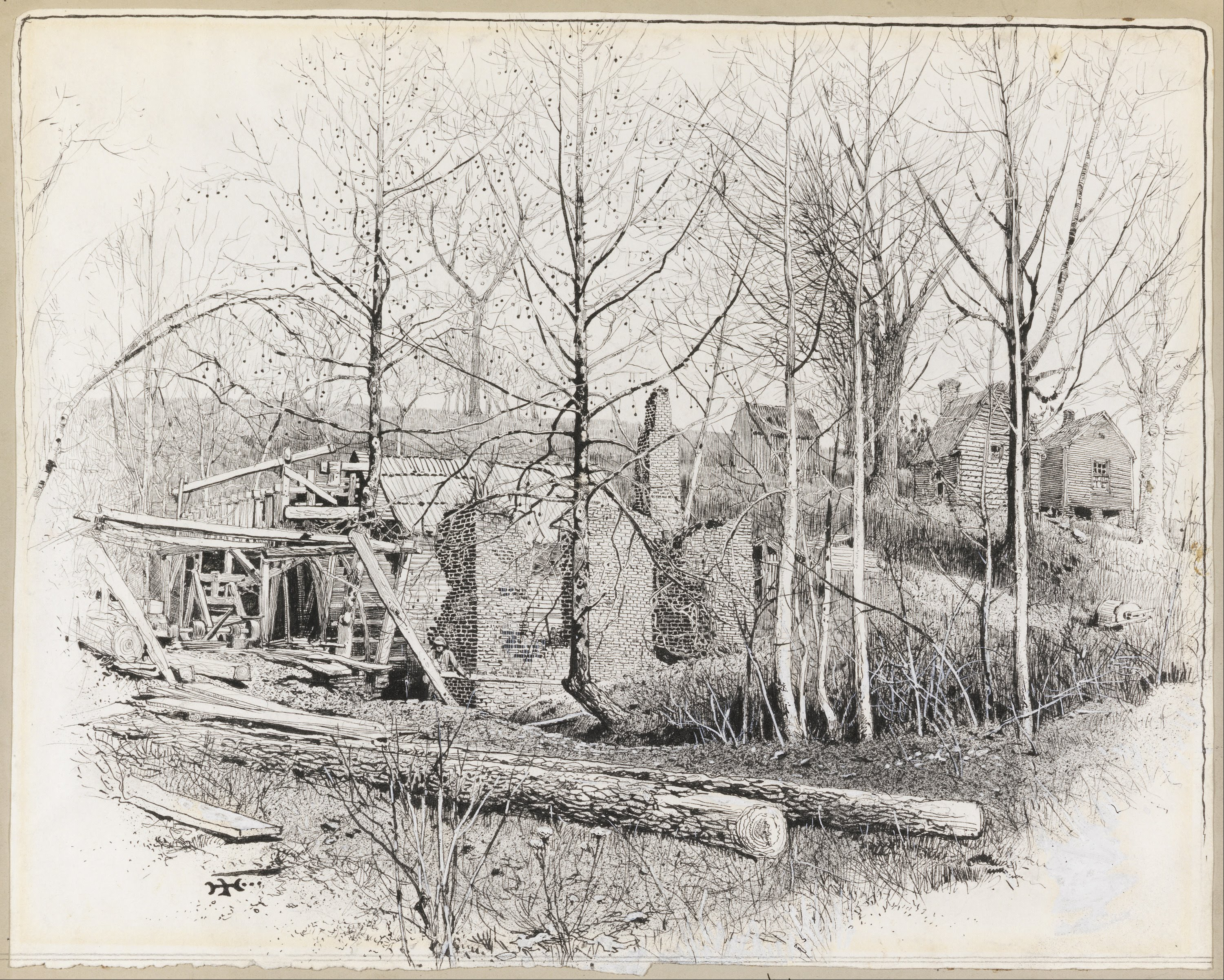 Artistic Aspects : File harry fenn present aspect of gaines s mill looking
