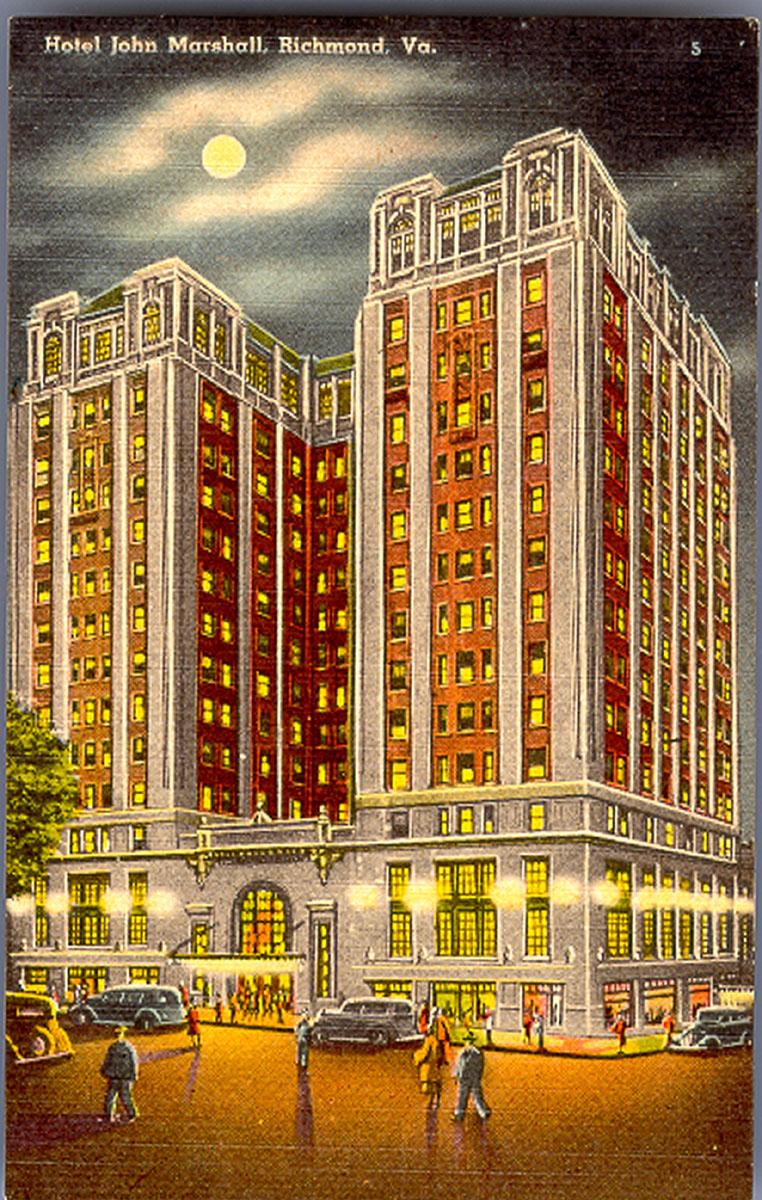 File Hotel John Marshall Richmond Virginia Postcard Jpg