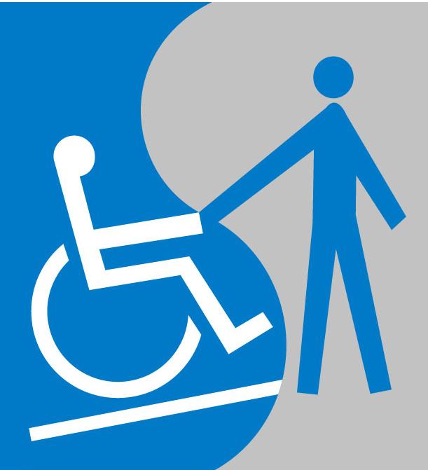 Une personne en fauteuil roulant et une personne debout se tendent la main