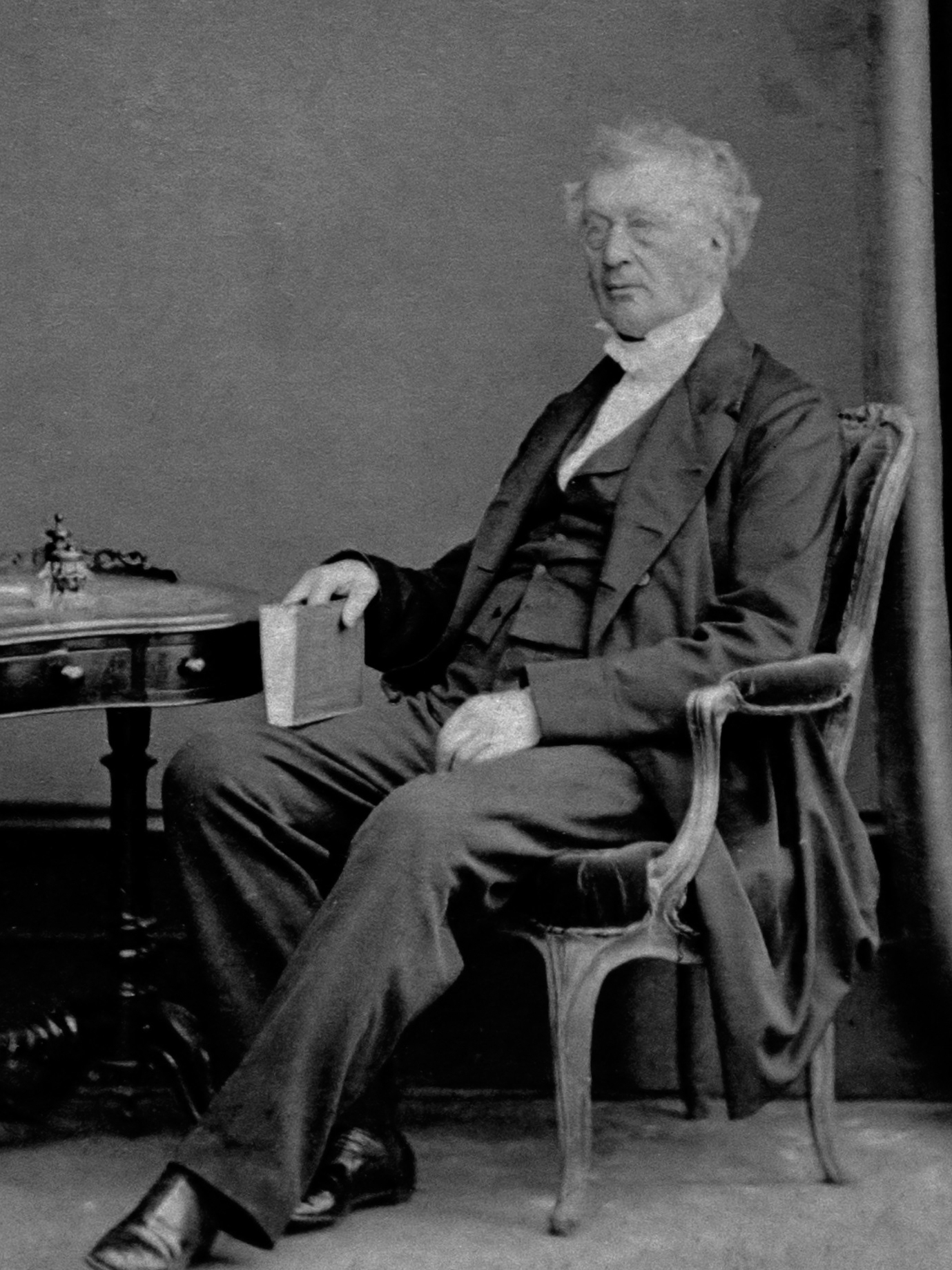 A portrait of James Edward Austen-Leigh taken in the 1860s