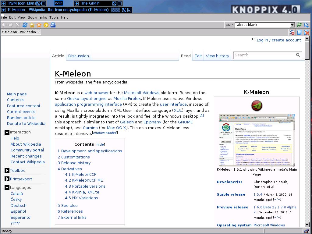 k-meleon deutsch