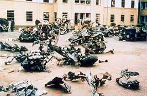 Wreckage from the Nairobi bombing.