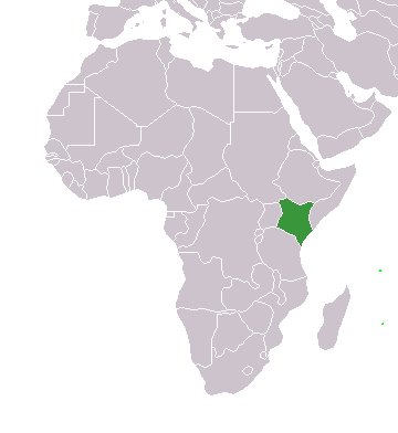 africa map with kenya highlighted