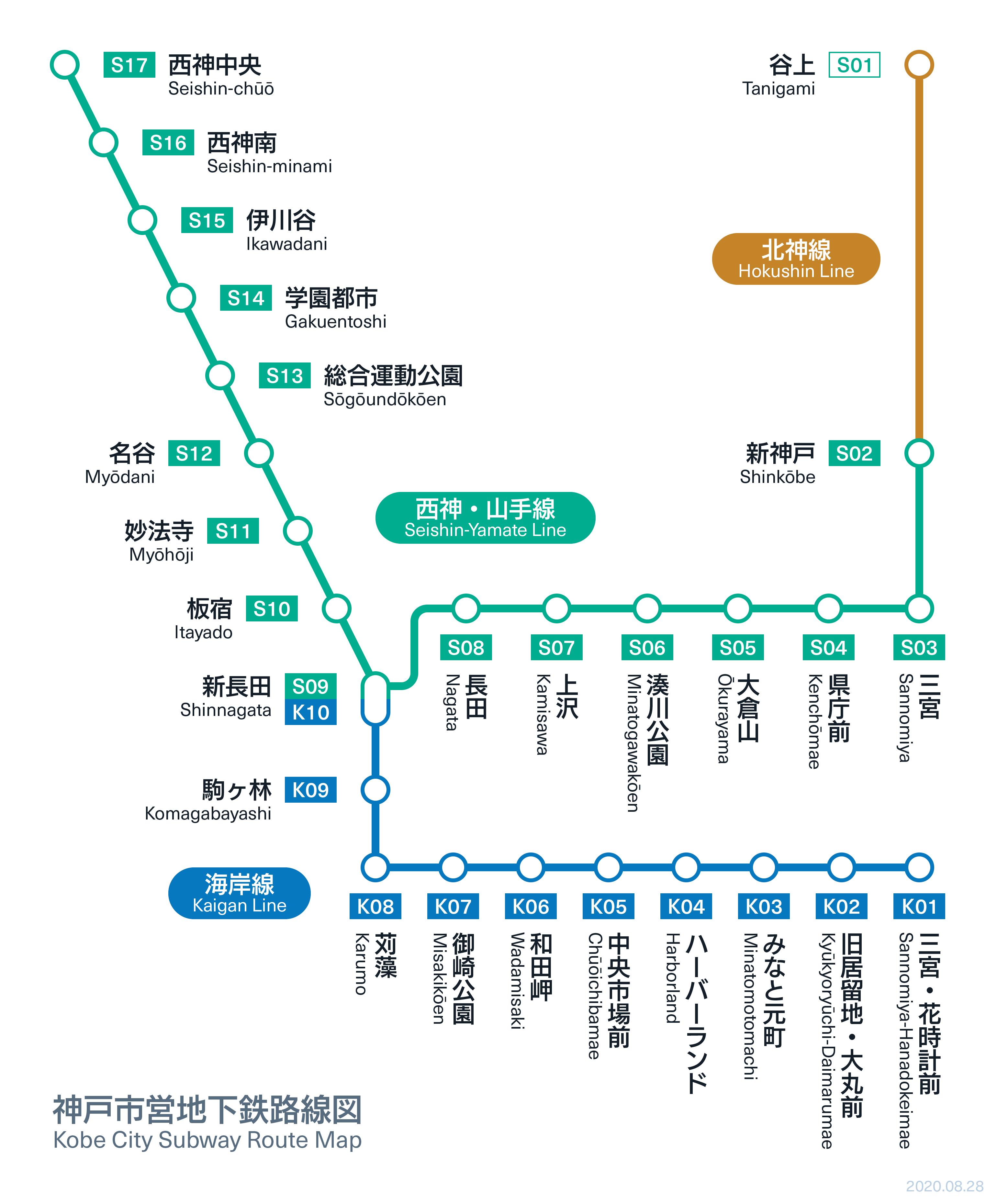 路線 図 電鉄 神戸
