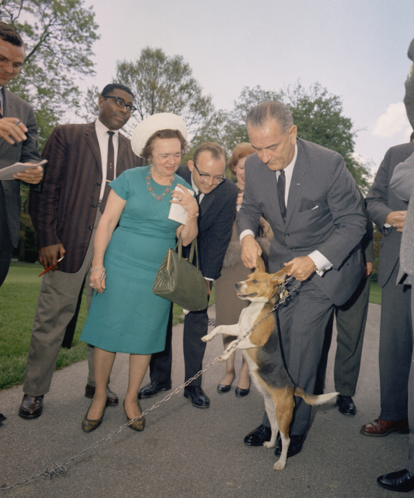 Lbj Dog Picture