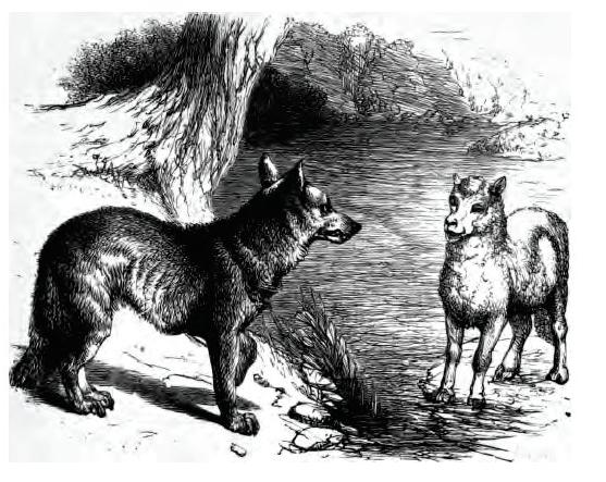 File le loup et agneau g f townsend 1867 - Dessin loup et agneau ...