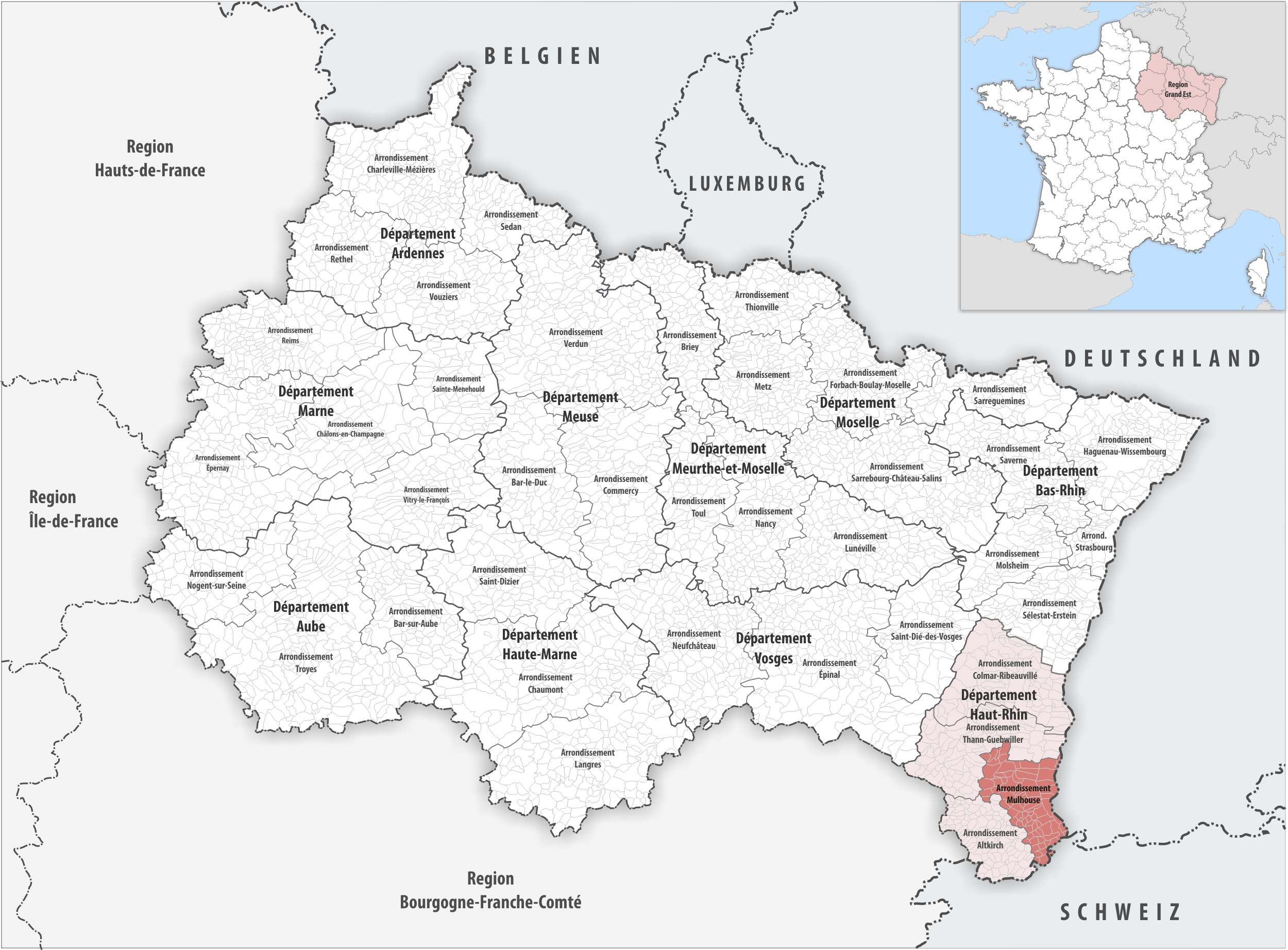 FileLocator map of Arrondissement Mulhouse 2018png Wikimedia Commons