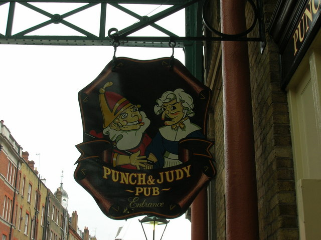 File:London, Covent Garden, Punch and Judy Pub sign - geograph.org.uk - 1136165.jpg