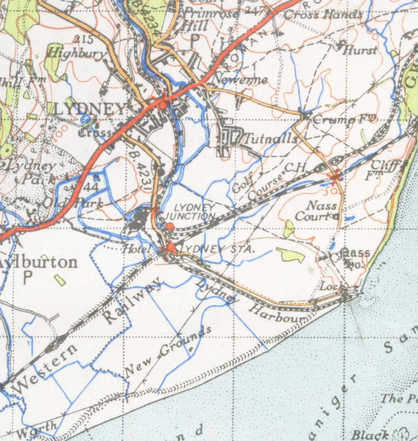 Lydney United Kingdom  city images : map of Lydney from 1946 Arlingham, United Kingdom