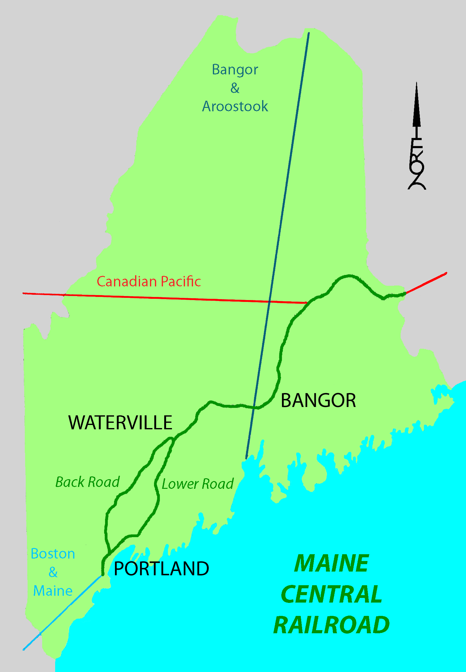 Maine Central Railroad Main Line Wikipedia
