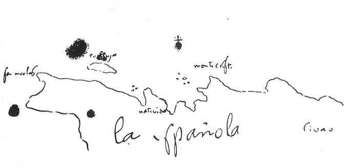 Mapa Españoli sporządzona przez Krzysztofa Kolumba