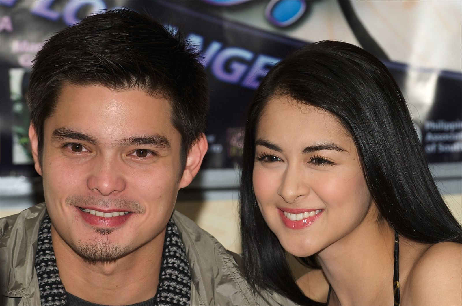 Marian Rivera and Dingdong Dantes LA Press Conference, December 2008 (01).jpg English: Marian Rivera and Dingdong Dantes at a press conference
