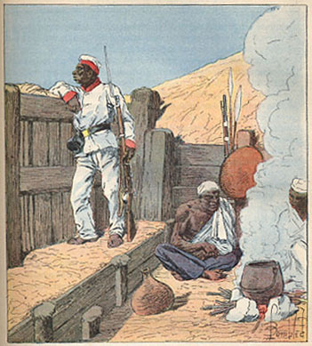 File:Merina troops Henri Gallichet 1850 1923 Louis Charles Bombled 1862-1927 La Guerre a Madagascar 1896.jpg