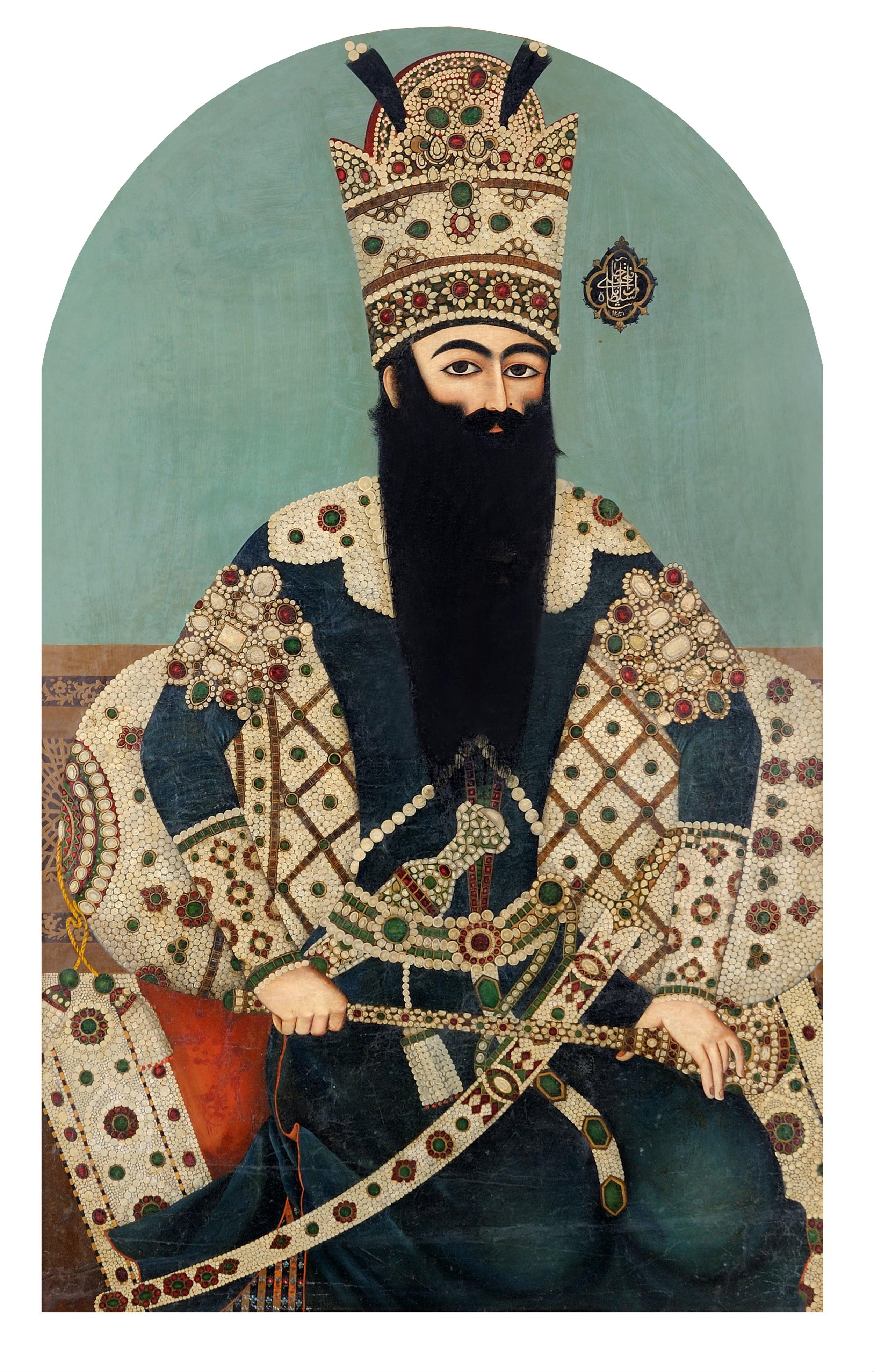 https://upload.wikimedia.org/wikipedia/commons/9/9c/Mihr_%27Ali%2C_Iran%2C_1816_-_Portrait_of_Fath_%27Ali_Shah_-_Google_Art_Project.jpg