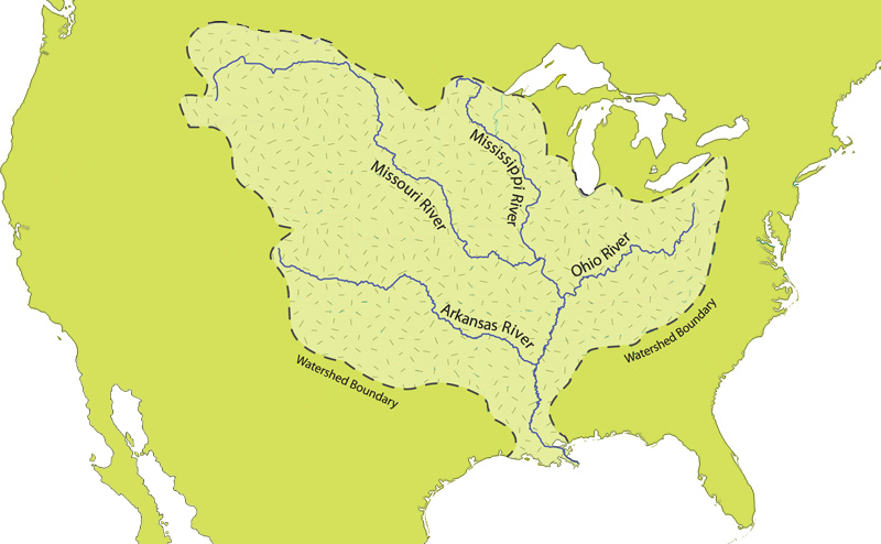 united states map mississippi river File Mississippi River Watershed Map North America Png Wikimedia united states map mississippi river
