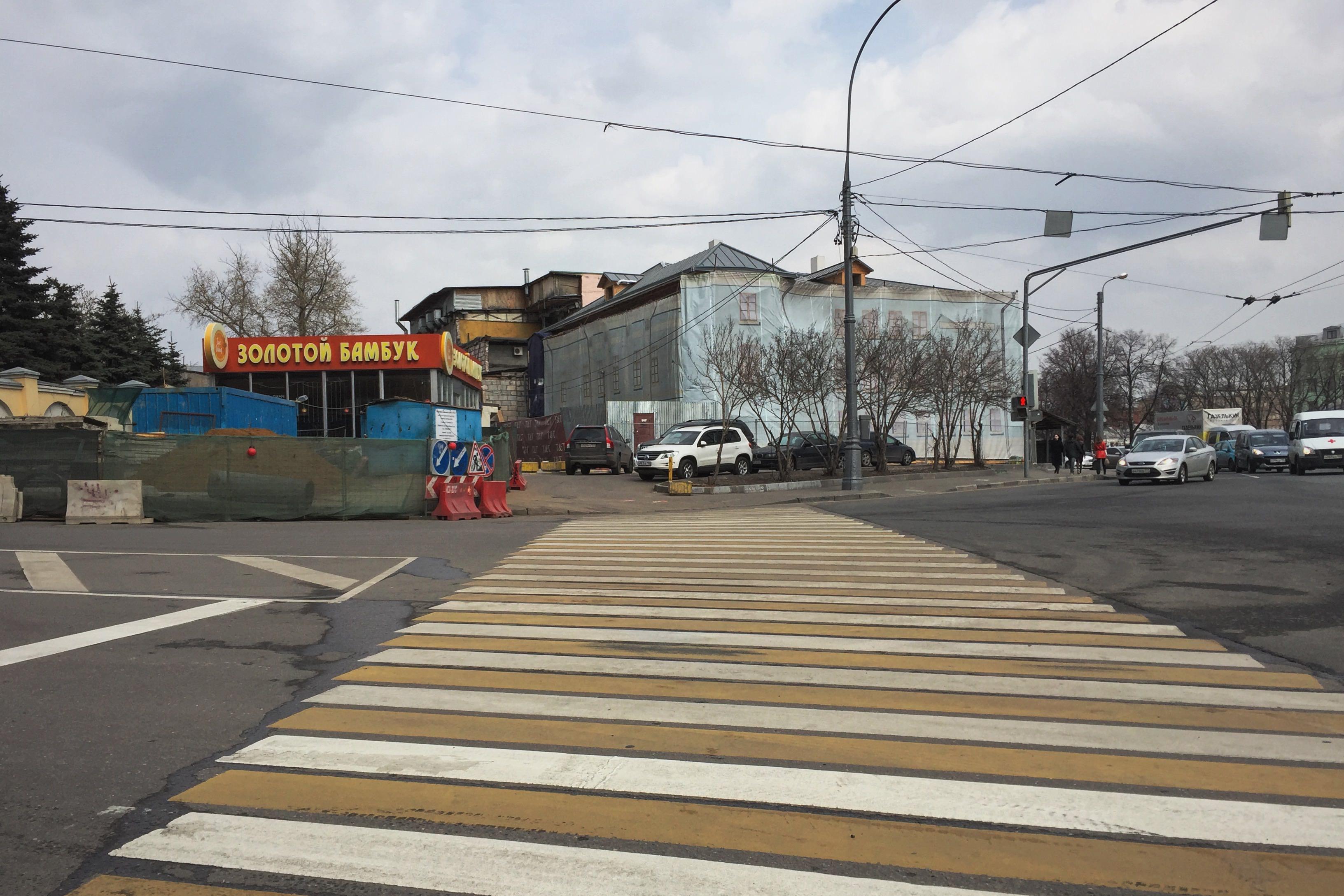 File:Moscow, Taganskaya Square 88 - the destroyed Kolesnikov