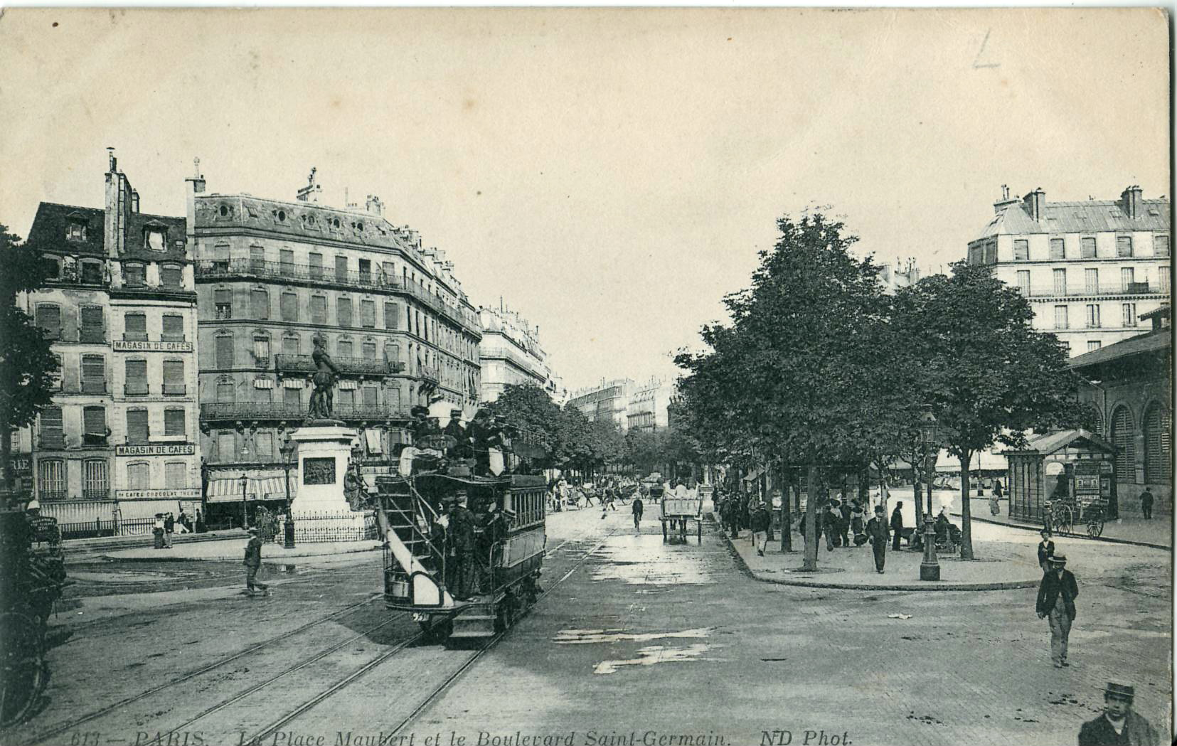 File nd 613 paris la place maubert et le boulevard saint germain jpg wi - La quincaillerie boulevard saint germain ...