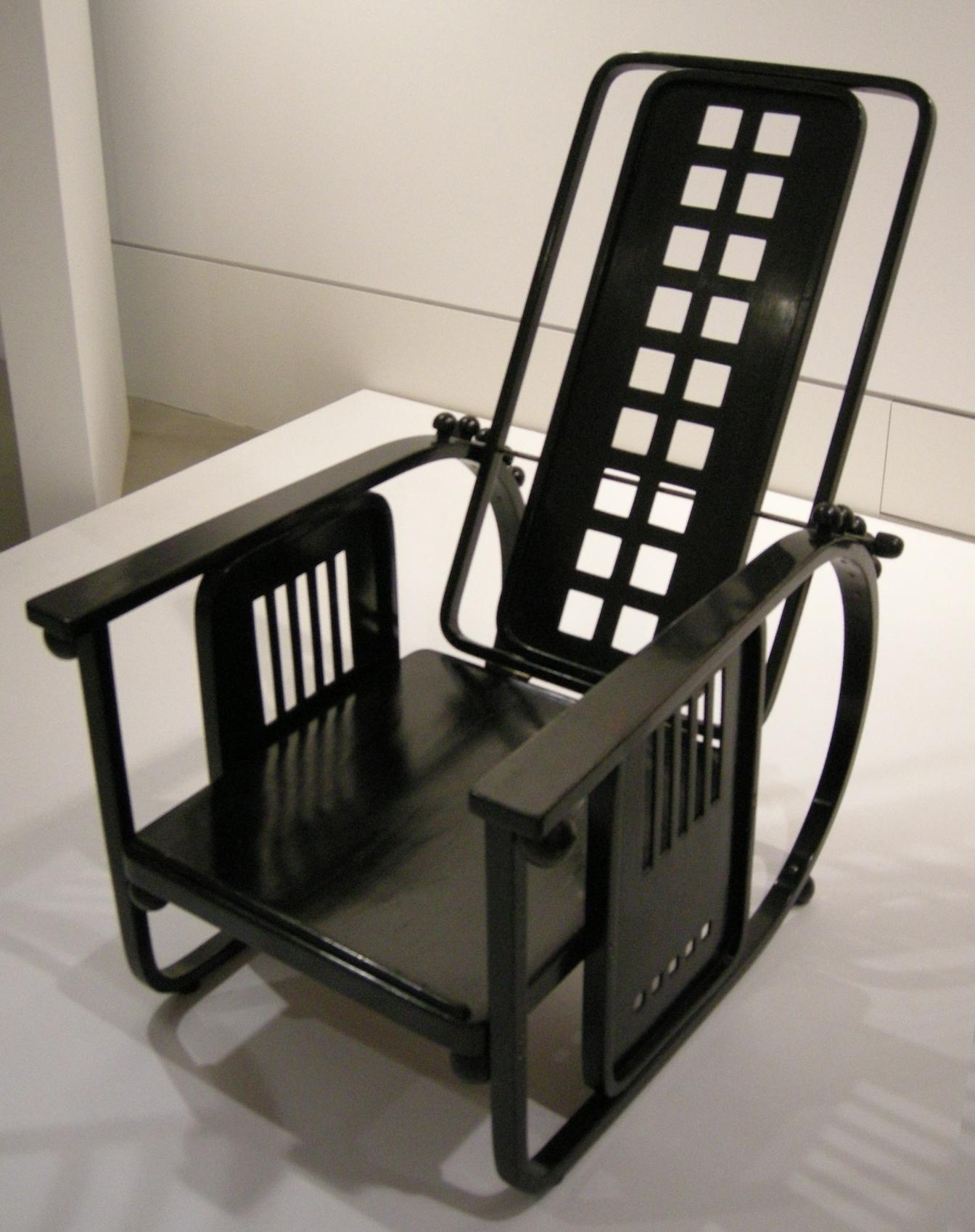 File ngv design josef hoffmann adjustable back chair for Working chair design