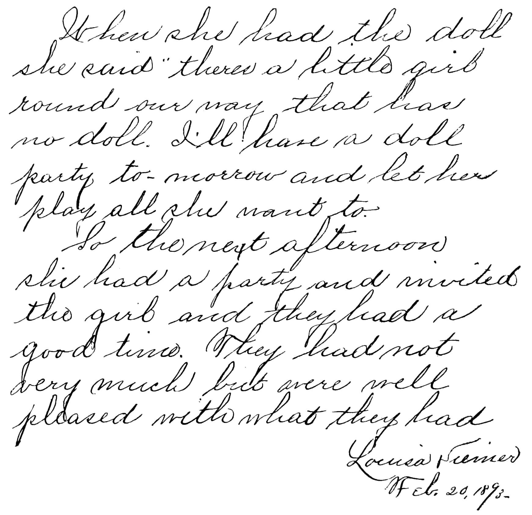 George Washington Writing Paper For Craft