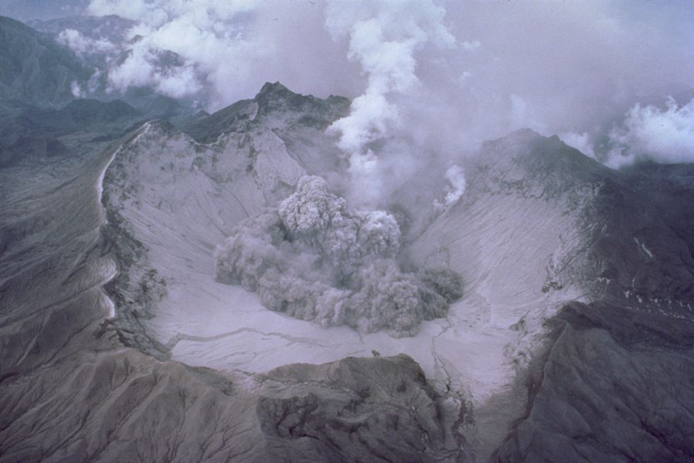 Mt. Pinatubo caldera as seen on August 1, 1991