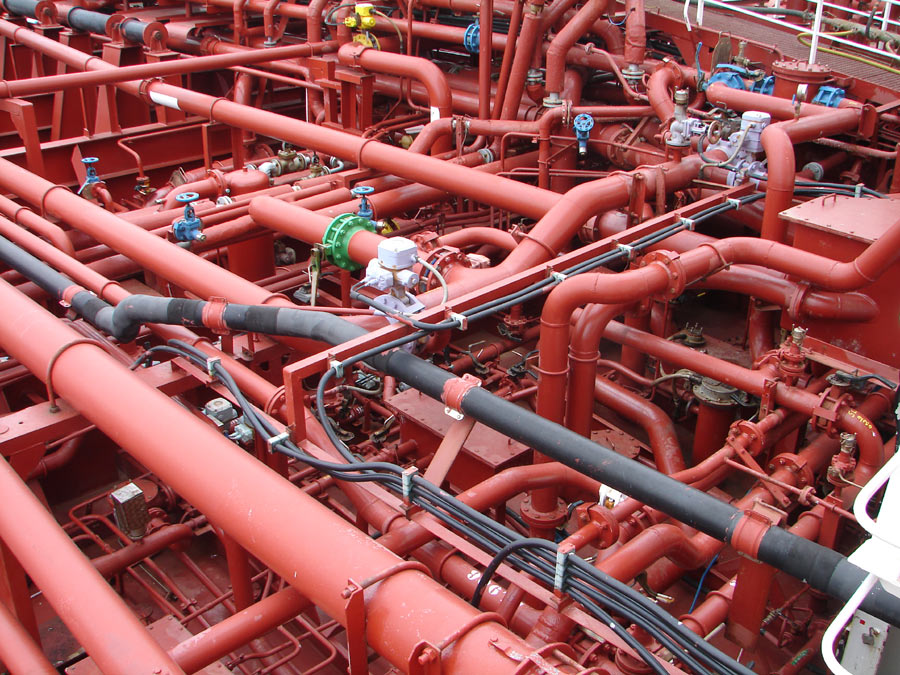 file piping system on a chemical tanker jpg
