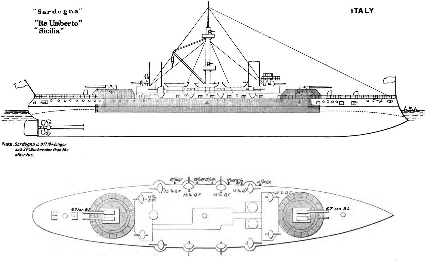 re umberto-class battleship