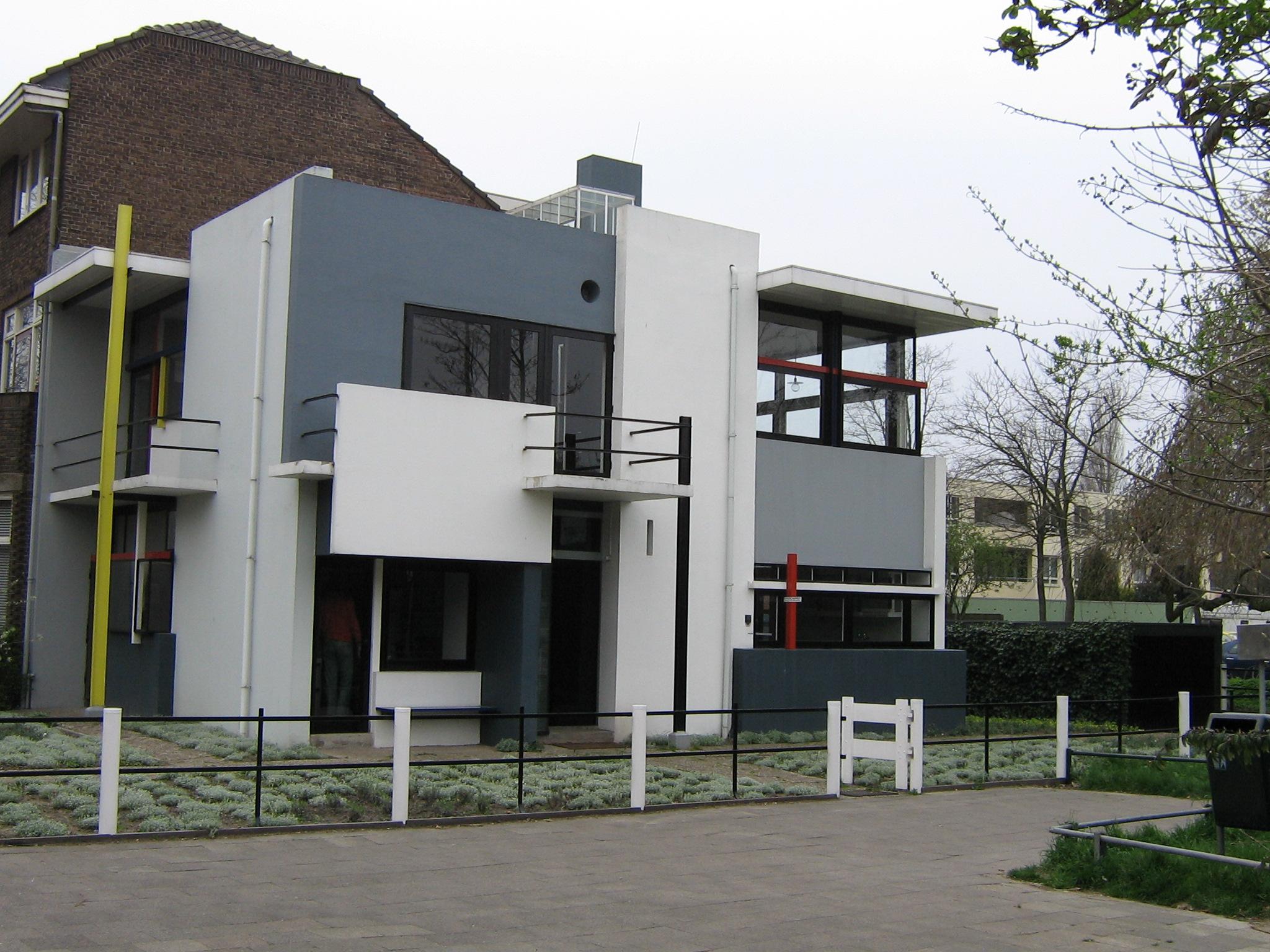 Ejemplo de arquitectura De Stijl. Rietveld Schroeder House.