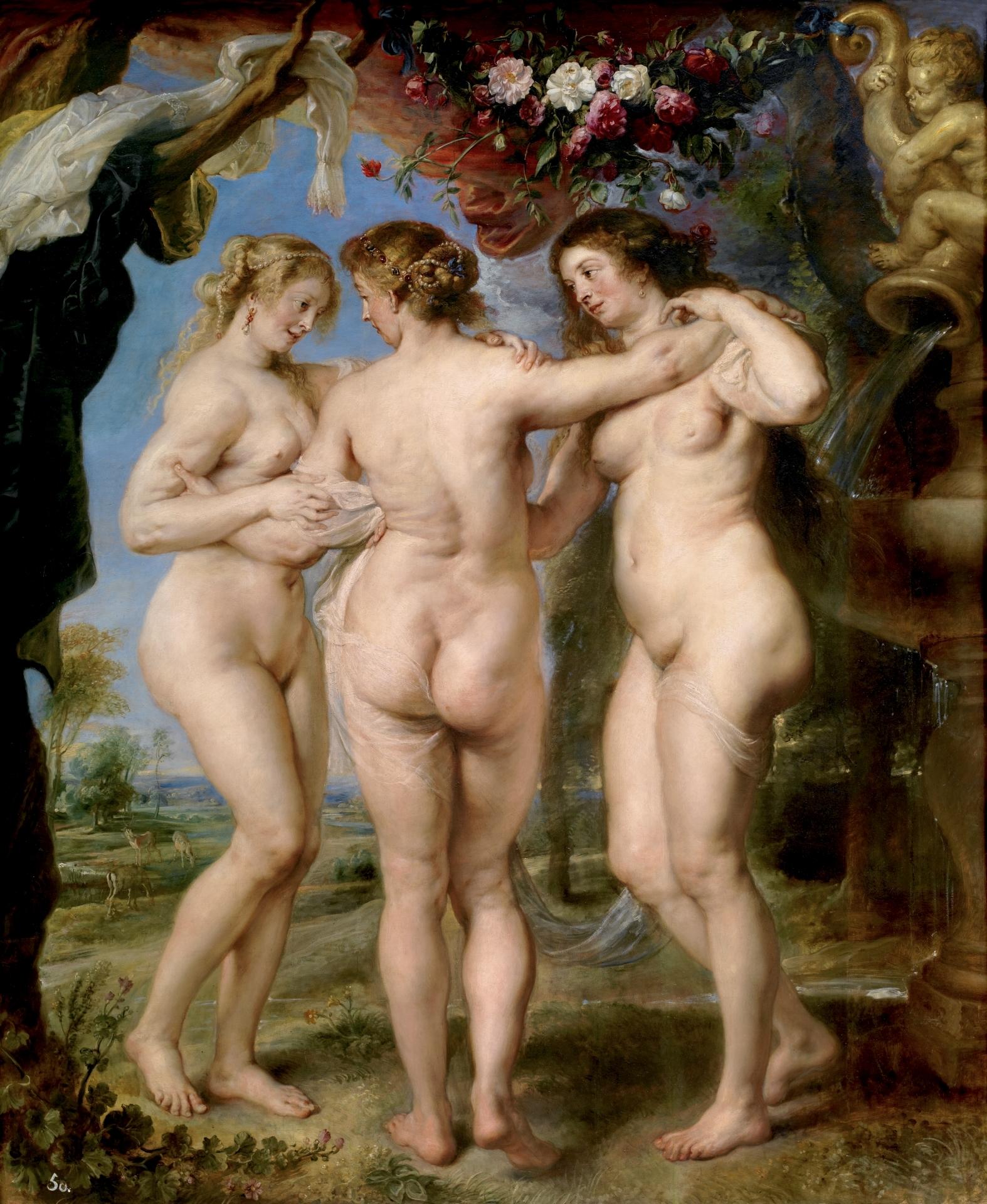 Las tres gracias | Peter Paul Rubens. Museo del Prado.