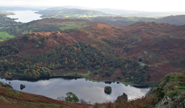 Rydal Cave and Loughrigg Fell