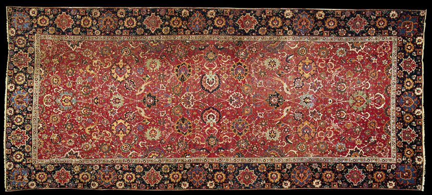File Safavid Carpet Isphahan Central Persia 16 5 X 7 2