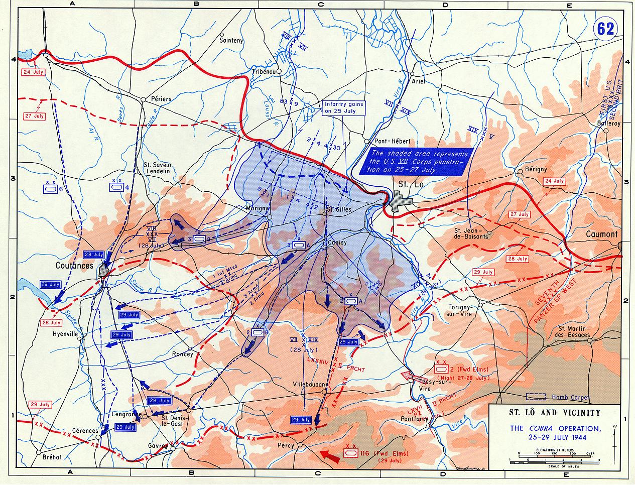 a review of the operation cobra in normandy Date : 26 juillet 1944 - july 26th, 1944 sujet | subject: - reportage sur les vestiges de blindés allemands appartenant à la panzer-lehr-division (chars.