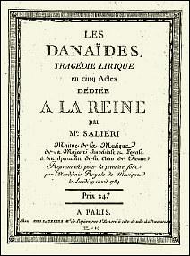 Titelblatt des Pariser Erstdrucks der Partitur (1784)