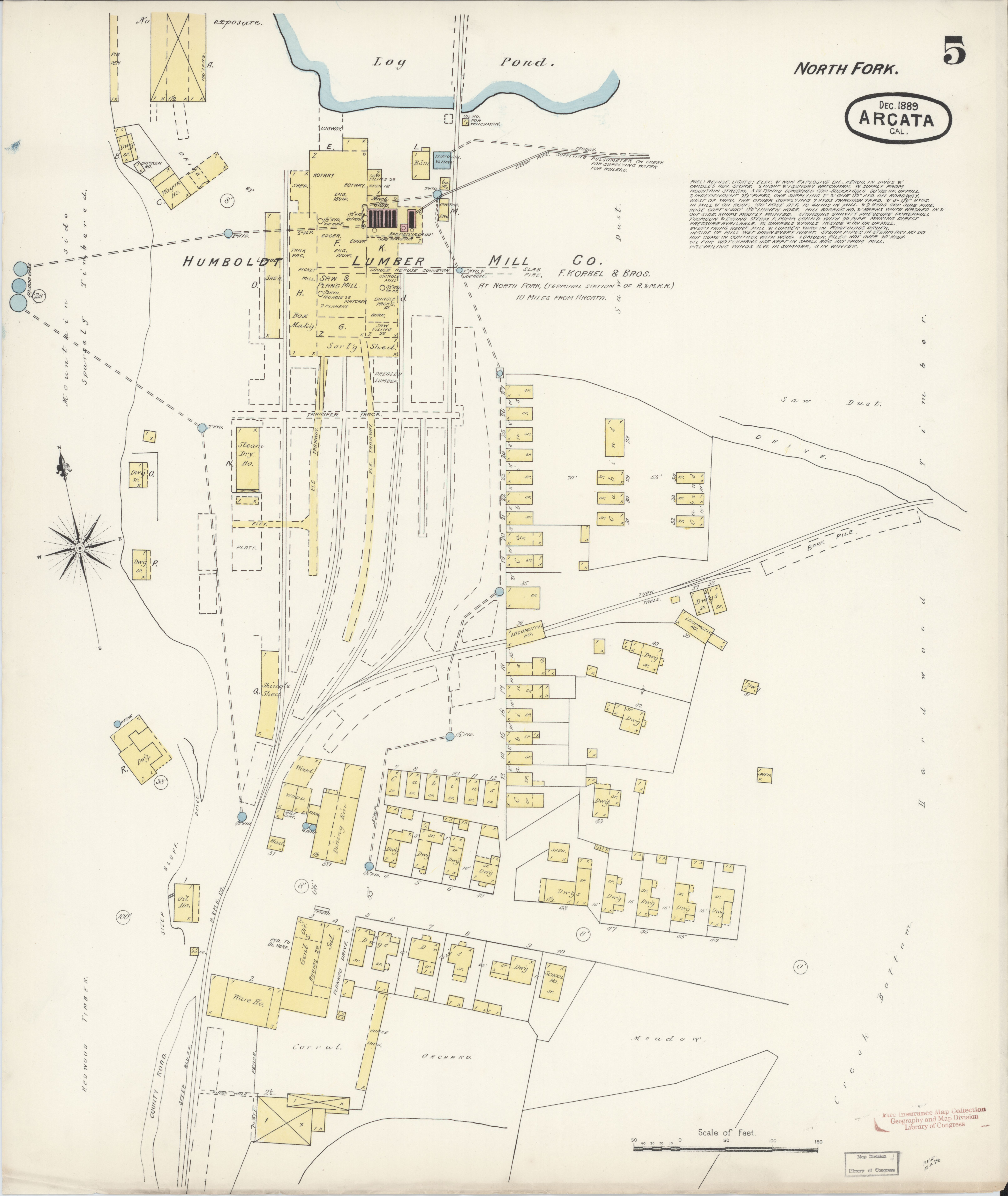 File Sanborn Fire Insurance Map From Arcata Humboldt County