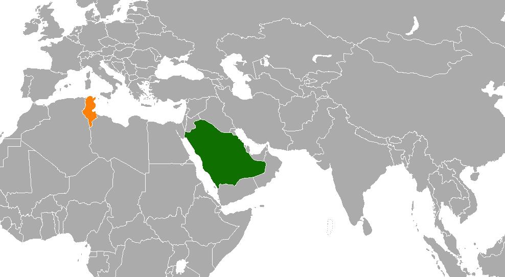 Saudi Arabia–Tunisia relations - Wikipedia on venezuela world map, macedonia world map, congo world map, egypt world map, israel world map, vietnam world map, belgium world map, china world map, netherlands world map, cambodia world map, india world map, nigeria world map, iraq world map, turkey world map, ukraine world map, afghanistan world map, iran world map, ireland world map, syria world map, yemen world map,