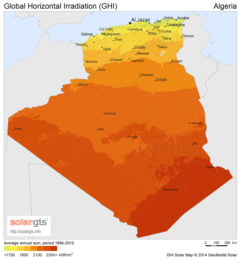Solar Power In Algeria Wikipedia