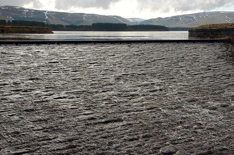 Spillway at Gladhouse Reservoir - geograph.org.uk - 1713013