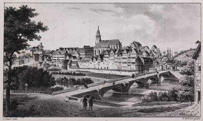 Datei:Tübingen - C. Obach lith(ographiert), G.Küstner gedr(uckt), Landesarchiv Baden-Wuerttemberg Hauptstaatsarchiv Stuttgart J 56 Bue 3.jpg