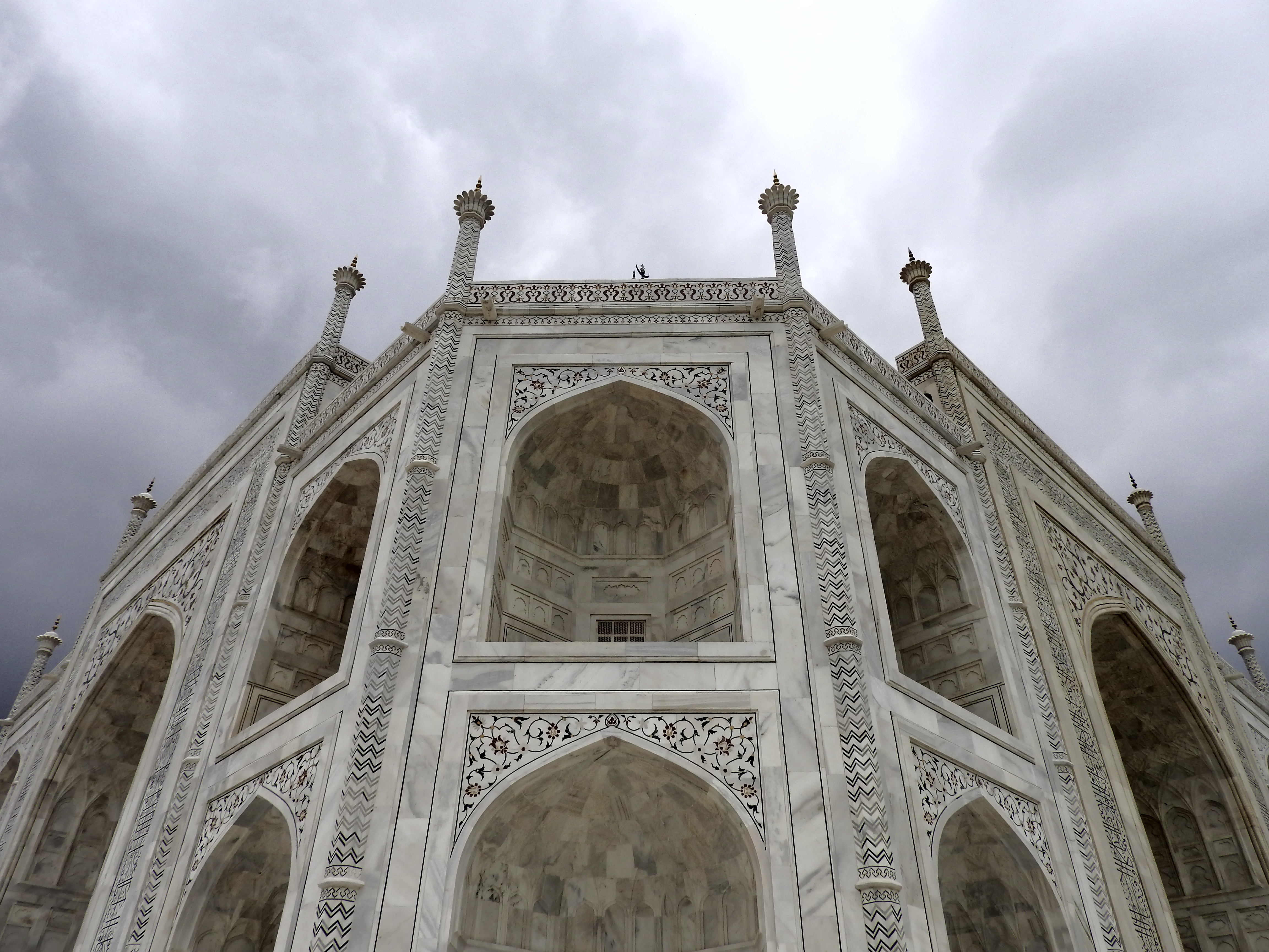 Close up view of the main structure of the Taj Mahal