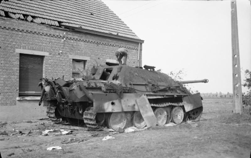 A knocked out Jagdpanther near Geel
