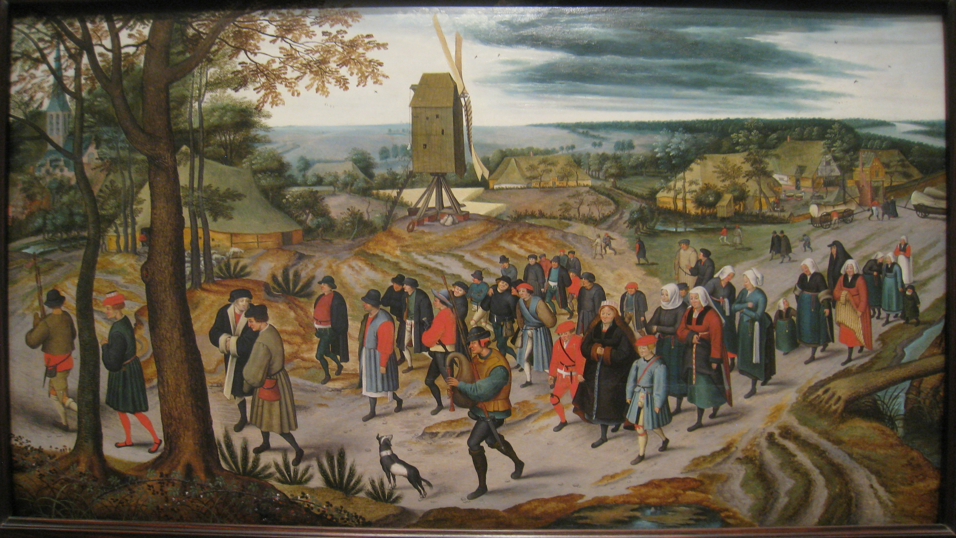 File:The Marriage Procession, 1623, by Pieter Brueghel the Younger (1564-
