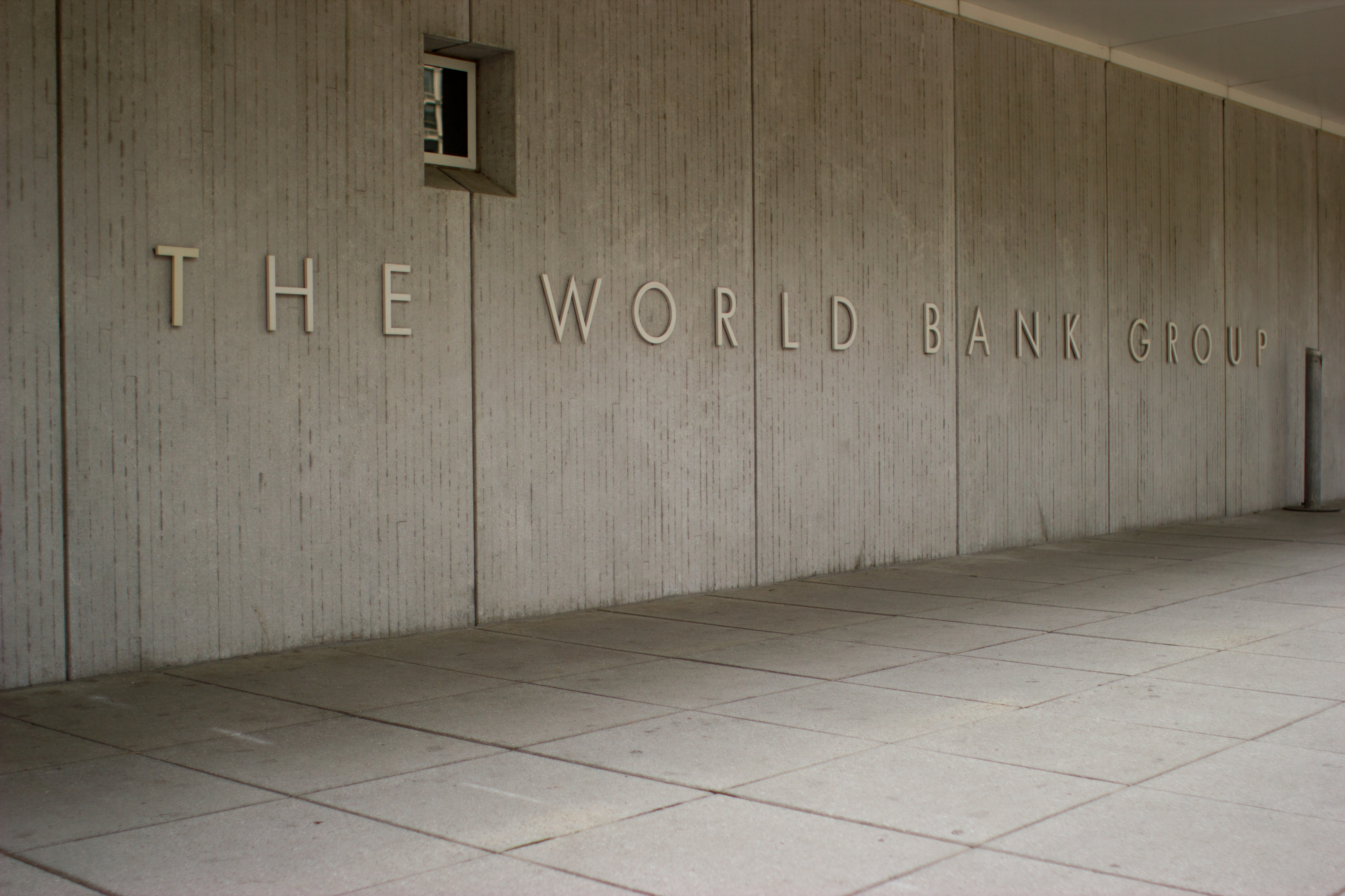 The World Bank Sign on The